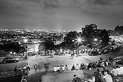 View of Paris at night from the steps of Sacre Coeur, Montmartre