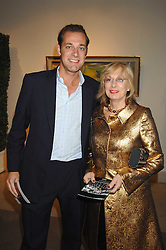 NINA CAMPBELL and her son MAX KONIG at a party to celebrate the 60th anniversary of House & Garden magazine held at Bonhams, 101 New Bond Street, London on 4th October 2007.<br />