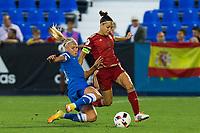 Finland's Emma Koivisto Spain's Veronica Boquete during the match of  European Women's Championship 2017 at Leganes, between Spain and Finland. September 20, 2016. (ALTERPHOTOS/Rodrigo Jimenez)