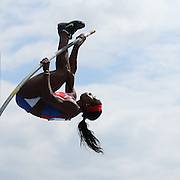 Yarisley Silva, Cuba, in action during the Women's Pole Vault competition at the Diamond League Adidas Grand Prix at Icahn Stadium, Randall's Island, Manhattan, New York, USA. 14th June 2014. Photo Tim Clayton