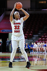 NORMAL, IL - January 06: Simone Goods during a college women's basketball game between the ISU Redbirds and the Drake Bulldogs on January 06 2019 at Redbird Arena in Normal, IL. (Photo by Alan Look)