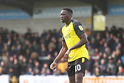 Burton Albion forward Lucas Akins (10) during the EFL Sky Bet League 1 match between Burton Albion and Luton Town at the Pirelli Stadium, Burton upon Trent, England on 27 April 2019.