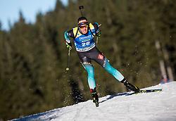 Quentin Fillon Maillet (FRA) in action during the Men 10km Sprint at day 6 of IBU Biathlon World Cup 2018/19 Pokljuka, on December 7, 2018 in Rudno polje, Pokljuka, Pokljuka, Slovenia. Photo by Vid Ponikvar / Sportida