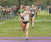 Oct. 27, 2017; Springfield, OR, USA; Dani Jones of Colorado takes first in 18:57 the Pac-12 cross country championships at the Springfield Golf Club. Colorado also won the women's championship.