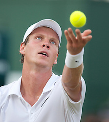 LONDON, ENGLAND - Friday, June 25, 2010: Tomas Berdych (CZE) during the Gentlemen's Singles 3rd Round on day five of the Wimbledon Lawn Tennis Championships at the All England Lawn Tennis and Croquet Club. (Pic by David Rawcliffe/Propaganda)
