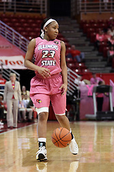 05 February 2016: Viria Livingston(23). Illinois State University Women's Redbird Basketball team hosted the Sycamores of Indiana State for a Play4 Kay game at Redbird Arena in Normal Illinois.