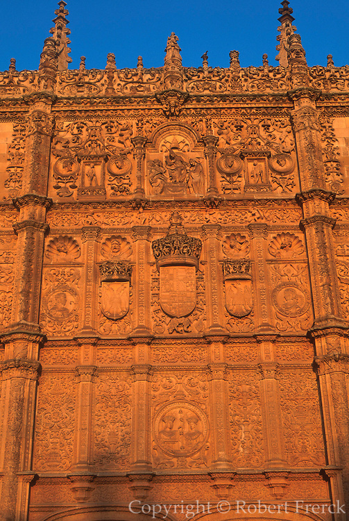 SPAIN, CASTILE, SALAMANCA University, 'Plateresque' façade