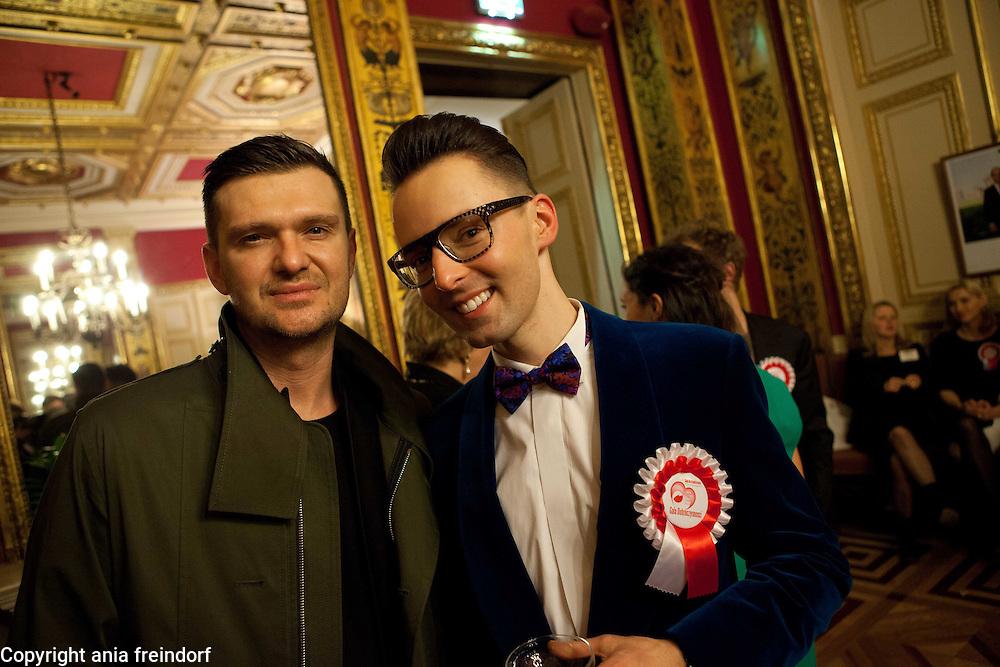 Polish City Club, Gala de Bienfaisance, Paris, (L) Maciej Zien , polish fashion designer