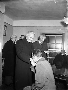 St Vincent's Club presentation by Dr Lucey for Cork Church Building, .14.12.1954, 12.14.1954, 14th December 1954,
