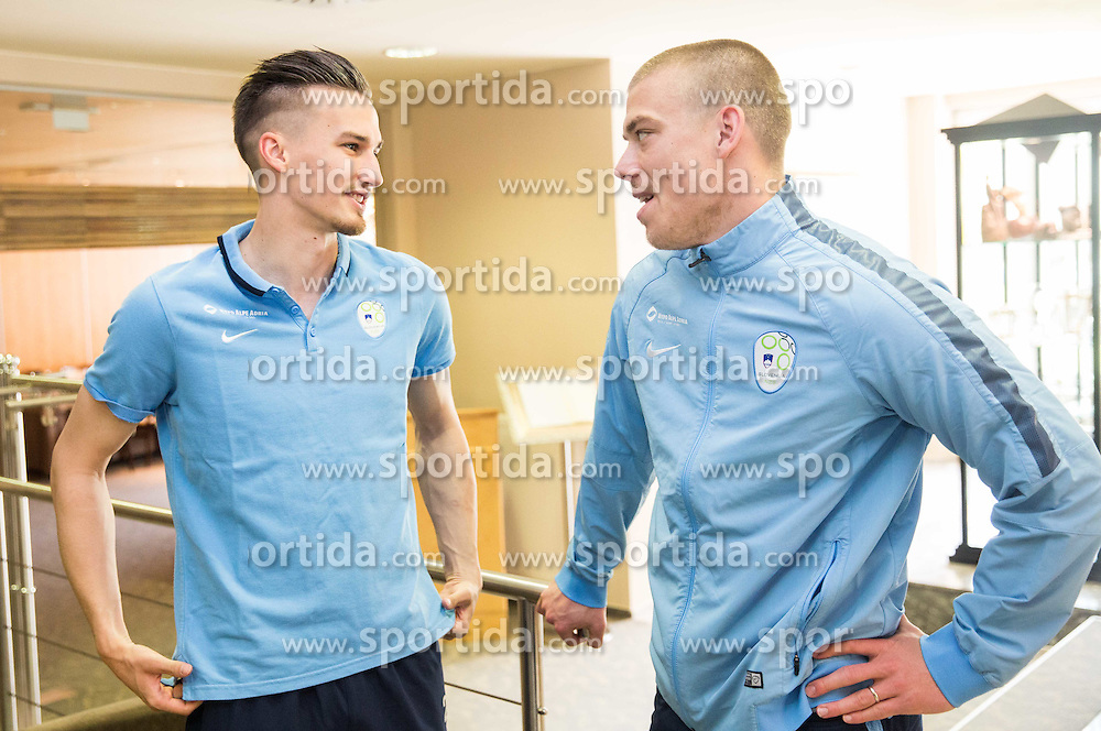 Grega Sorcan and Nejc Vidmar at Slovenia team gathering before friendly football match against National teams of Sweden and Turkey, on May 23, 2016 in Hotel Kokra, Brdo pri Kranju, Slovenia. Photo by Vid Ponikvar / Sportida