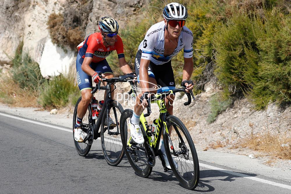 Matteo Trentin (ITA - Mitchelton - Scott), Vincenzo Nibali (ITA - Bahrain - Merida) during the UCI World Tour, Tour of Spain (Vuelta) 2018, Stage 5, Granada - Roquetas de Mar 188,7 km in Spain, on August 29th, 2018 - Photo Luis Angel Gomez / BettiniPhoto / ProSportsImages / DPPI