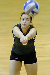 27 October 2006: Titan Jenna Passananti. The Bears won the match 3 games to 1. The match between the Washington University Bears and the Illinois Wesleyan Titans took place at Shirk Center on the IWU campus in Bloomington Illinois.<br />