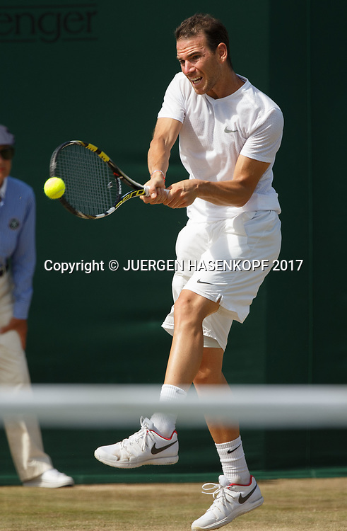 ADRIAN MANNARINO (FRA)<br /> <br /> Tennis - Wimbledon 2017 - Grand Slam ITF / ATP / WTA -  AELTC - London -  - Great Britain  - 8 July 2017.