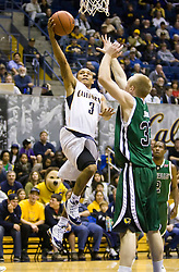 December 28, 2009; Berkeley, CA, USA;  California Golden Bears guard Jerome Randle (3) shoots past Utah Valley Wolverines forward Nick Jenson (33) during the second half at the Haas Pavilion.  California defeated Utah Valley 85-51.