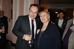 QUENTIN LETTS and LIBY PURVES at the Oldie Magazine's Oldie of The Year Awards held at Simpson's In The Strand, London on 4th February 2014.