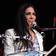 Grammy nominated singer Sheila Escovedo known by her stage name Sheila E., Performs in front of a sold out crowd at World Cafe Live at The Queen Friday, May. 30, 2014, in Wilmington, DEL.