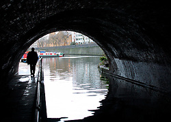 UK ENGLAND LONDON 29DEC02 - A man walks through a tunnel at the Grand Union Canal at Camden Town.<br /> <br /> <br /> <br /> jre/Photo by Jiri Rezac<br /> <br /> <br /> <br /> © Jiri Rezac 2002<br /> <br /> <br /> <br /> Contact: +44 (0) 7050 110 417<br /> <br /> Mobile:  +44 (0) 7801 337 683<br /> <br /> Office:  +44 (0) 20 8968 9635<br /> <br /> <br /> <br /> Email:   jiri@jirirezac.com<br /> <br /> Web:     www.jirirezac.com