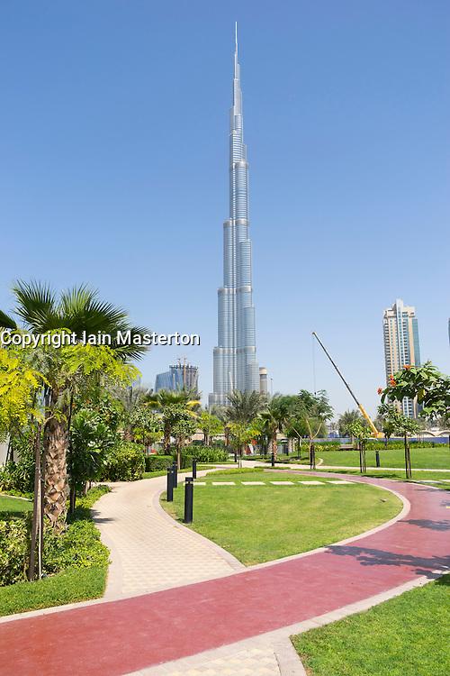Burj Khalifa tower in Dubai United Arab Emirates