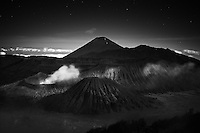Gunung Bromo (Mount Bromo) in black and white photography
