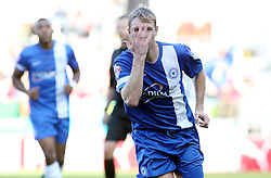 Peterborough United's Grant McCann celebrates - Photo mandatory by-line: Joe Dent/JMP - Tel: Mobile: 07966 386802 28/09/2013 - SPORT - FOOTBALL - New York Stadium - Rotherham - Rotherham United V Peterborough United - Sky Bet One