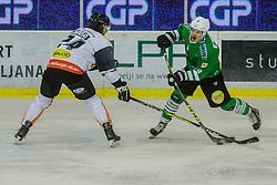 Pem Nik of Olimpija during ice hockey match between HDD Olimpija Ljubljana and Dornbirn Bulldogs in EBEL league, on Januar 7th, 2017 in Hala Tivoli, Ljubljana, Slovenia. Photo by Grega Valancic / Sportida