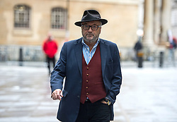 © Licensed to London News Pictures. 29/11/2015. London, UK. GEORGE GALLOWAY arriving at  BBC Broadcasting this morning (Sun). Photo credit: Ben Cawthra/LNP