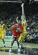 January 07, 2011: Ohio State Buckeyes forward J.D. Weatherspoon (15) drives against Iowa Hawkeyes forward Aaron White (30) during the the NCAA basketball game between the Ohio State Buckeyes and the Iowa Hawkeyes at Carver-Hawkeye Arena in Iowa City, Iowa on Saturday, January 7, 2012.