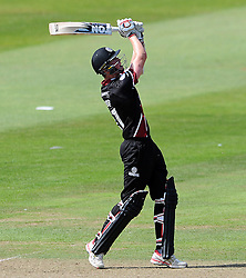 Somerset's Adam Hose hits out - Photo mandatory by-line: Harry Trump/JMP - Mobile: 07966 386802 - 31/07/15 - SPORT - CRICKET - Somerset v Worcestershire- Royal London One Day Cup - The County Ground, Taunton, England.