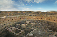 Kiva at Chetro Ketl ruins, Chaco Culture National Historical Park, New Mexico