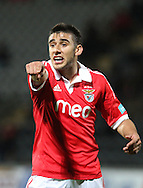 Portugal, FUNCHAL : Benfica's Argentine midfielder Salvio reacts   during Portuguese League football match Nacional vs Benfica at Madeira Stadium in Funchal on February 10, 2013. PHOTO/ GREGORIO CUNHA..