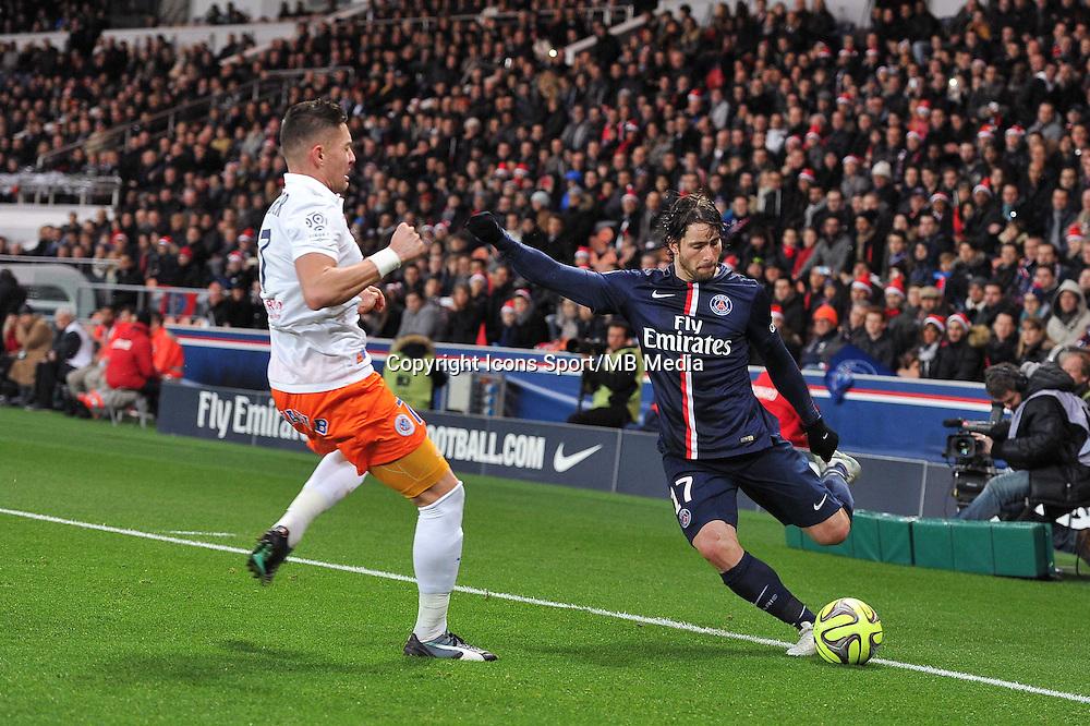 MAXWELL - 20.12.2014 - Paris Saint Germain / Montpellier - 17eme journee de Ligue 1 -<br />Photo : Aurelien Meunier / Icon Sport