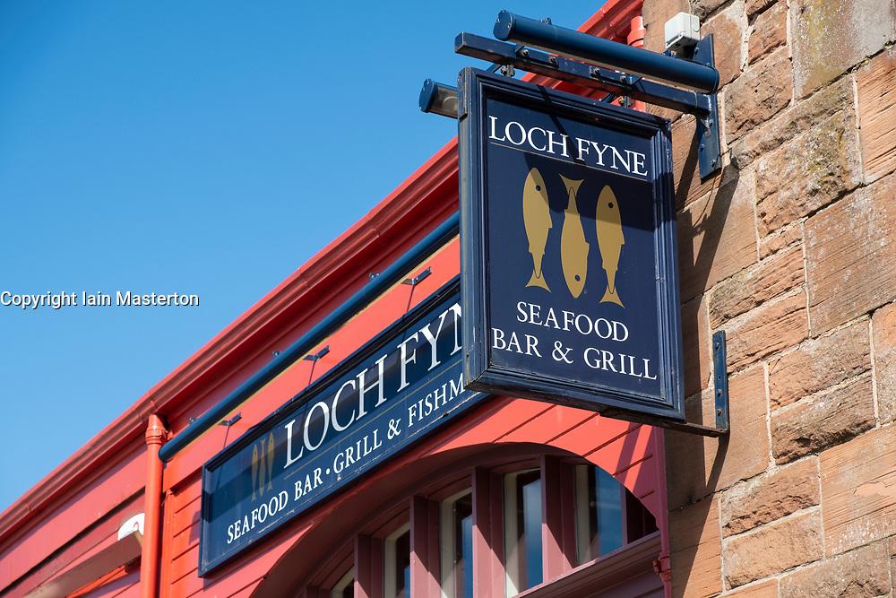 Loch Fyne Seafood Bar & Grill  at Newhaven in Edinburgh, Scotland, United Kingdom