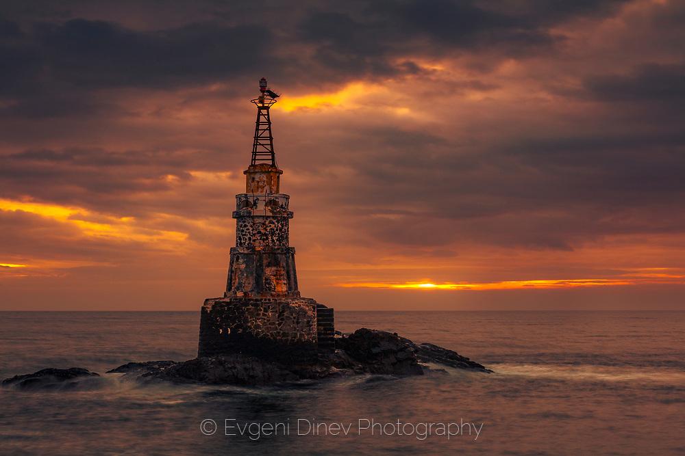 Ahtopol beacon at sunrise