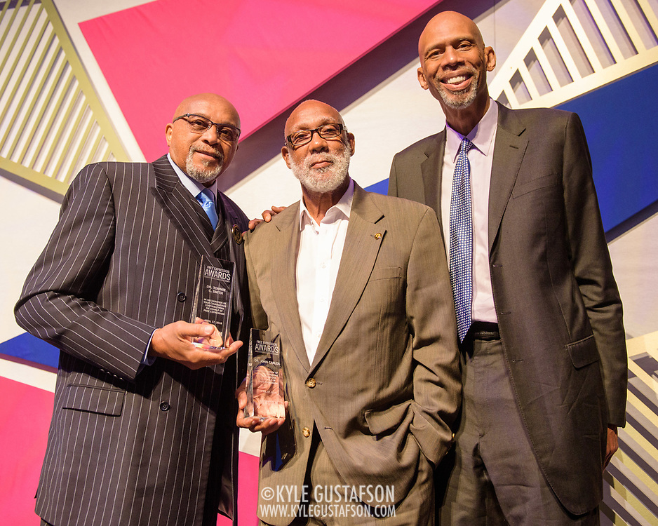 Tommie Smith, John Carlos and Kareem Abdul-Jabbar at the 2018 Free Expression Awards at The Newseum