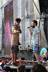 Mr. Pi e Piangers na abertura  do Planeta Atlântida 2013/RS, que acontece nos dias 15 e 16 de fevereiro na SABA, em Atlântida. FOTO: Marcos Nagelstein/Preview.com