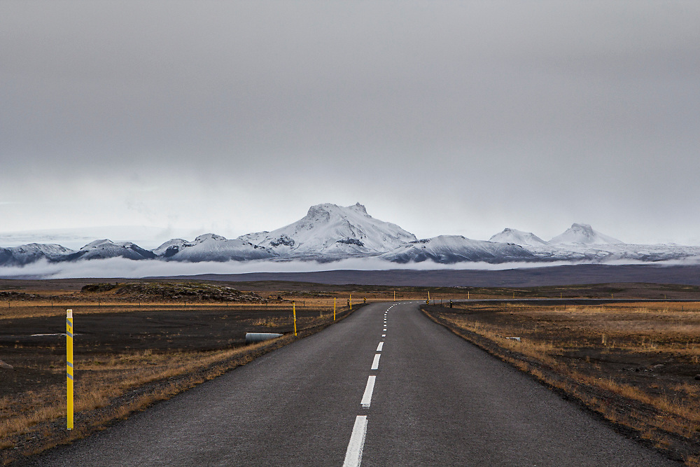 Open road in Iceland by Dublin based photographer Dan Butler