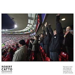 All Blacks Fans at the British & Irish Lions v. All Blacks Second Test at Westpac Stadium, Wellington, New Zealand.<br />
