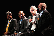MELBOURNE, AUSTRALIA - JULY 30:  Kapil Dev, Sanath Jayasuriya, Ian Chappell and Dennis Lillee speak during the Official Launch of the ICC Cricket World Cup 2015 on July 30, 2013 in Melbourne, Australia. Photo: Robert Prezioso/ ICC