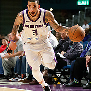 Reno Bighorns Guard MARCUS WILLIAMS (3) during the NBA G-League Basketball game between the Reno Bighorns and the Raptors 905 at the Reno Events Center in Reno, Nevada.