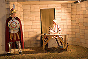 "Wisconsin USA, ""Rotary lights"" ? A Christmas night parade at La Crosse The Nativity  Romans writing a census November 2006"