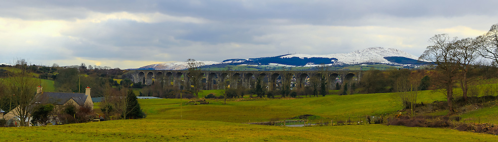 View of Camlough Mountain from the northern side near Bessbrook, with Craigmore Viaduct in the foreground