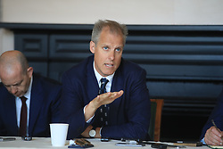 England Cricket national selector Ed Smith (centre) during the World Cup Squad Announcement at Lord's, London.
