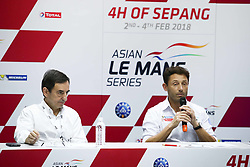 February 3, 2018 - Malaisie, Sepang - CYRILLE TAESCH WAHLEN (FRA) ASIAN LE MANS SERIES PROMOTER AND PIERRE FILLON (FRA) PRESIDENT OF THE ACO (Credit Image: © Panoramic via ZUMA Press)