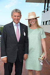 CHARLIE GORDON-WATSON and his wife KATE REARDON  at the 3rd day of the 2013 Glorious Goodwood racing festival - Ladies day at Goodwood Racecourse, West Sussex on 1st August 2013.