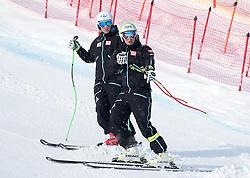 17.01.2017, Hahnenkamm, Kitzbühel, AUT, FIS Weltcup Ski Alpin, Kitzbuehel, Abfahrt, Herren, Streckenbesichtigung, im Bild v.l. Daniel Danklmaier (AUT), Frederic Berthold (AUT) // Daniel Danklmaier and Frederic Berthold of Austria during the course inspection for the  men's downhill of FIS Ski Alpine World Cup at the Hahnenkamm in Kitzbühel, Austria on 2017/01/17. EXPA Pictures © 2017, PhotoCredit: EXPA/ Johann Groder