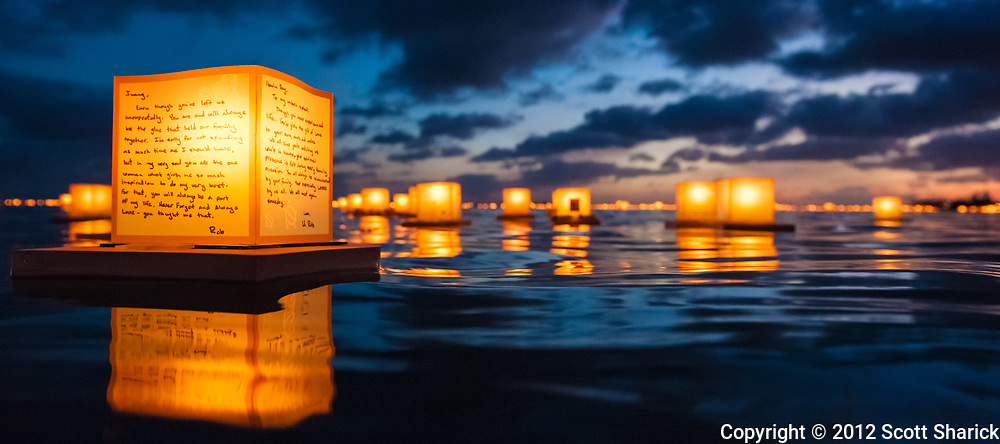 Tens of thousands of people come to Ala Moana Beach Park in Honolulu each year to watch as people remember their loved ones in a lantern floating memorial.