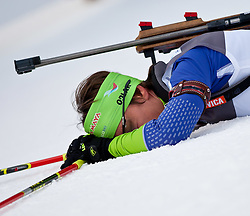 "19.01.2012, Südtirol Arena, Antholz, ITA, E.ON IBU Weltcup, 6. Biathlon, Antholz, Sprint Damen, im Bild Teja Gregorin (SLO) // Teja Gregorin (SLO) during Sprint Women E.ON IBU World Cup 6th, ""South Tyrol Arena"", Antholz-Anterselva, Italy on 2012/01/19, EXPA Pictures © 2012, PhotoCredit: EXPA/ Juergen Feichter"