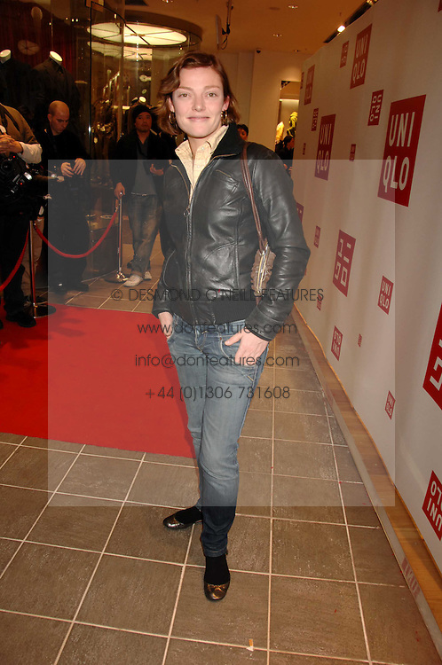 CAMILLA RUTHERFORD at a party to celebrate the opening of the new Uniqlo store at 331 Oxford Street, London W1 on 6th November 2007.<br />