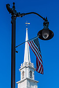 Symbols of church and state.