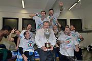 DESCRIZIONE : Final Eight Coppa Italia 2015 Finale Olimpia EA7 Emporio Armani Milano - Dinamo Banco di Sardegna Sassari<br /> GIOCATORE : Giacomo De Vecchi Brian Sacchetti Romeo Sacchetti<br /> CATEGORIA : esultanza post game post game<br /> SQUADRA : Banco di Sardegna Sassari<br /> EVENTO : Final Eight Coppa Italia 2015<br /> GARA : Olimpia EA7 Emporio Armani Milano - Dinamo Banco di Sardegna Sassari<br /> DATA : 22/02/2015<br /> SPORT : Pallacanestro <br /> AUTORE : Agenzia Ciamillo-Castoria/Max.Ceretti